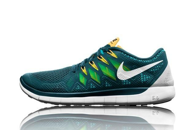 Nike Free 5 Grn Sideview