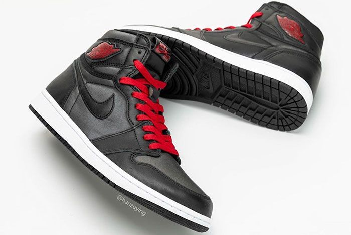 Air Jordan 1 Satin Black Gym Red 555088 060 Release Date 5 Pair
