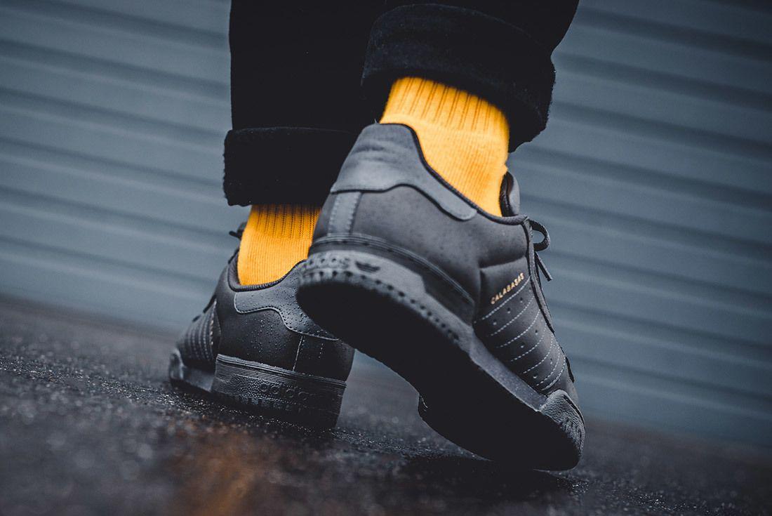 Adidas Yeezy Powerphase Core Black Calabasas On Foot 6