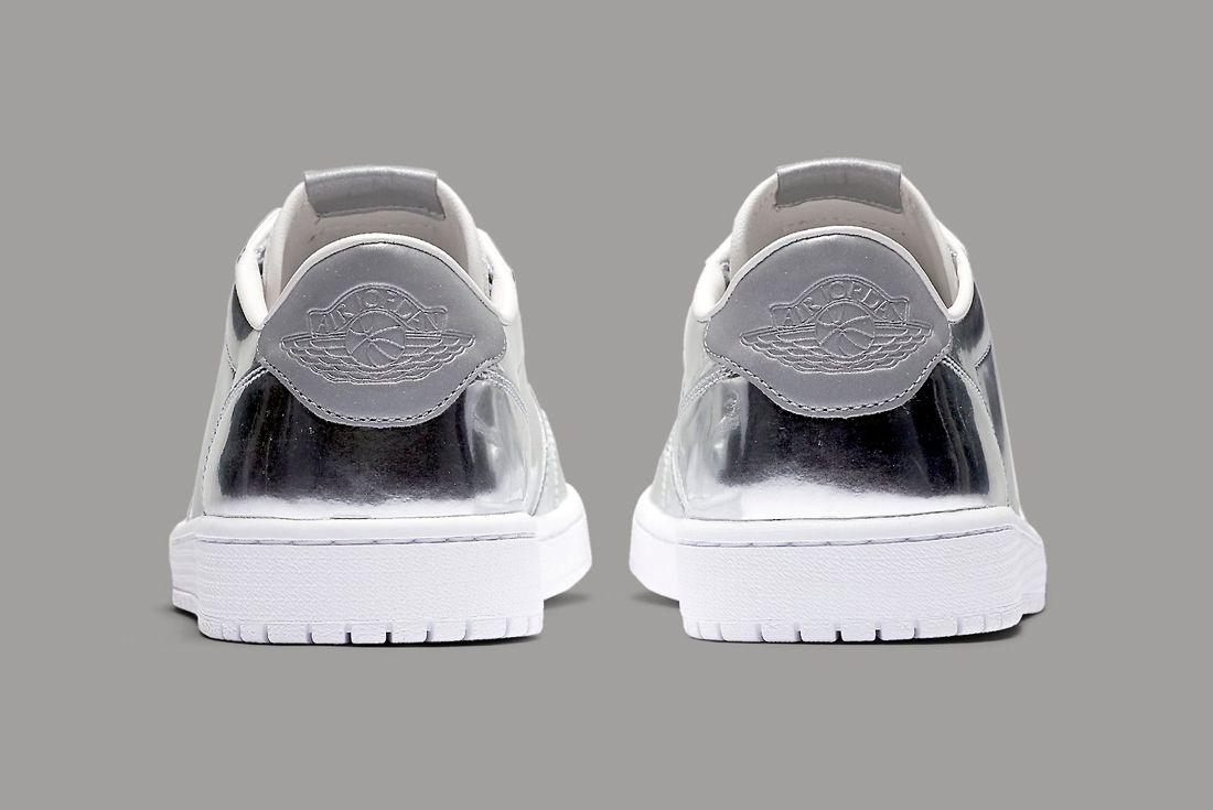 Air Jordan 1 Low Pinnacle Silver 4