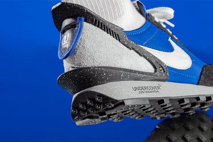 Nike Undercover Daybreak Navy Black On Foot Close Up Heel Shot