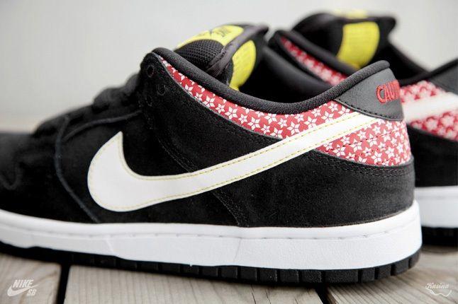 Nikesb Dunk Low Firecracker Pack Black Heel Profile 1