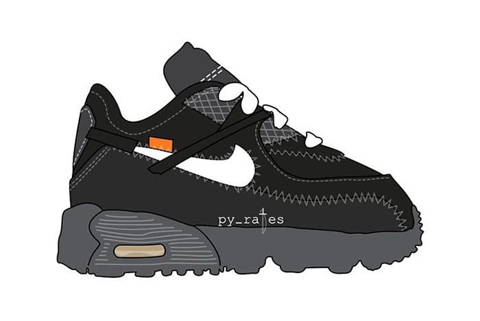 Off White X Nike Air Max 90 Toddlers Td 1