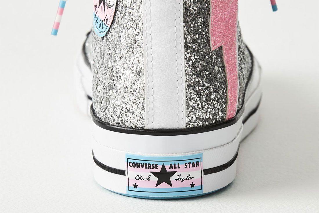 Converse Chuck 70 Pride Hi Trans Flag Heel
