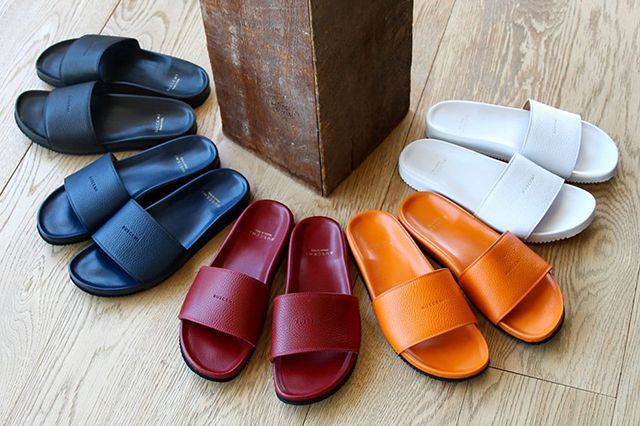Buscemi Calfskin Leather Slides 1