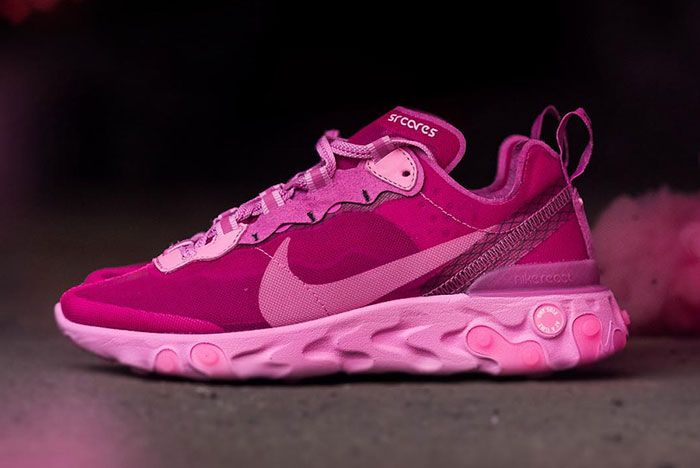 Sneaker Room Nike React Element 87 Pink Breast Cancer Release Date 1 Side