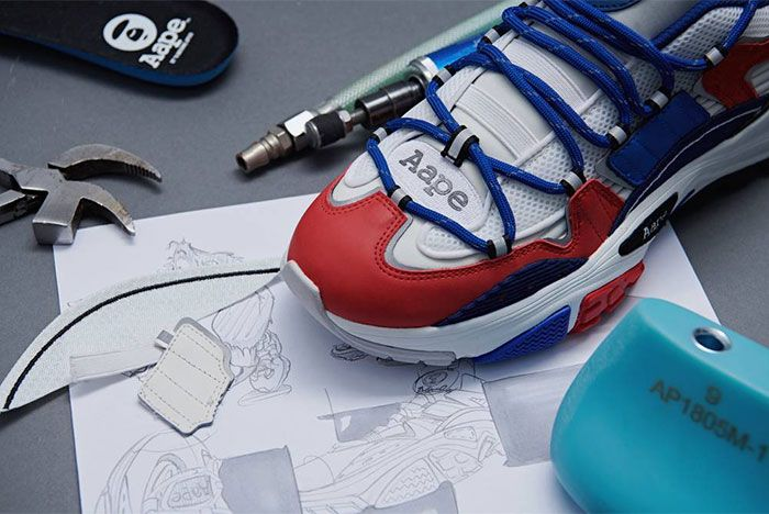Aape Dimension Red White Blue Toe