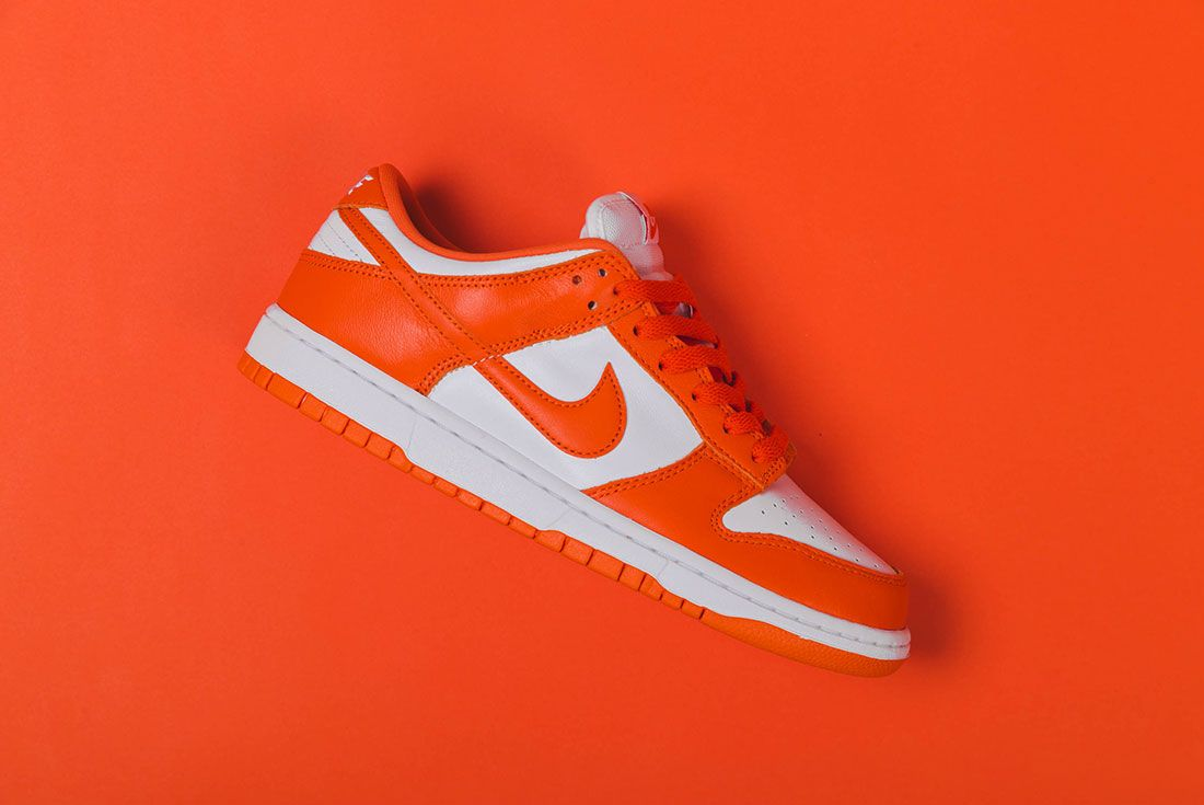 Up There Store Nike Dunk Low Sp White Orange Blaze Single Lateral