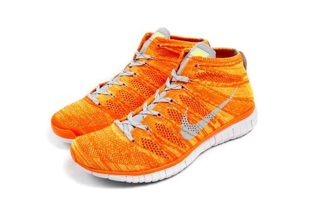 Nike Free Flyknit Chukka Orange Volt 3
