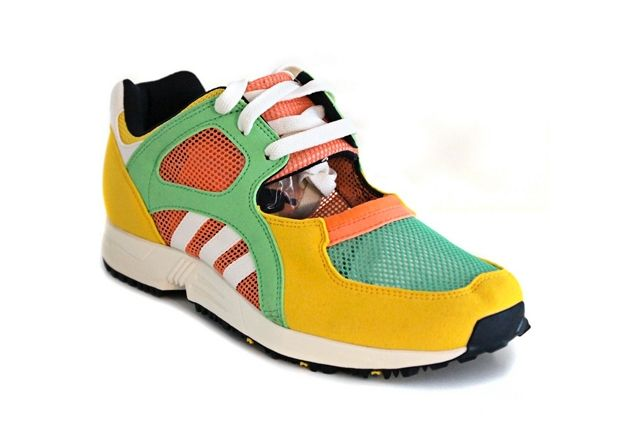 Adidas Eqt Racing Yellow Green Peach 1