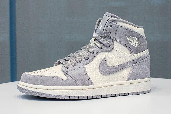 Jordan 1 Mid Grey White 3 Side