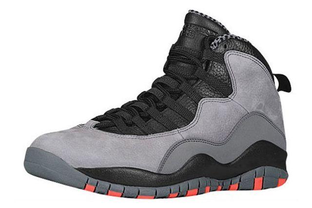 Air Jordan 10 X Cool Grey Infrared Black