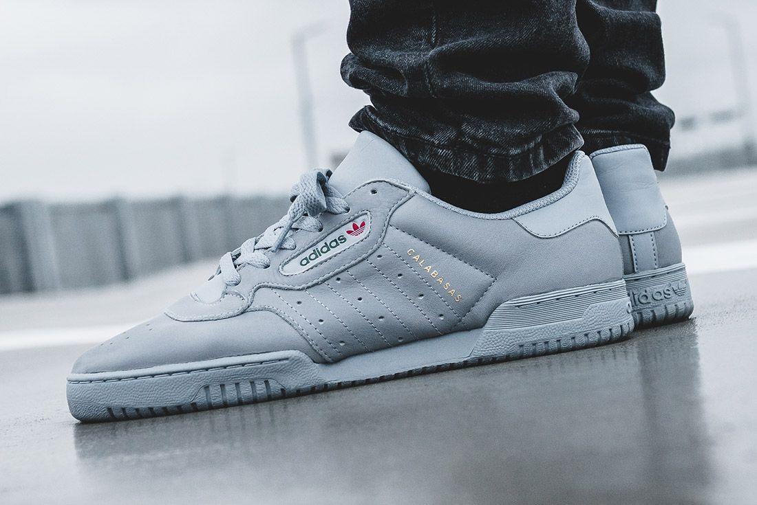 Adidas Yeezy Powerphase Grey On Foot Sneaker Freaker 9