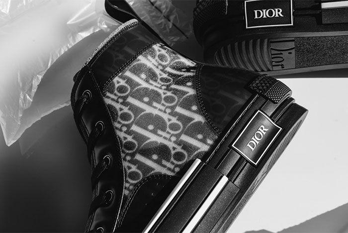 Dior B23 All Black Close Up Side Shot