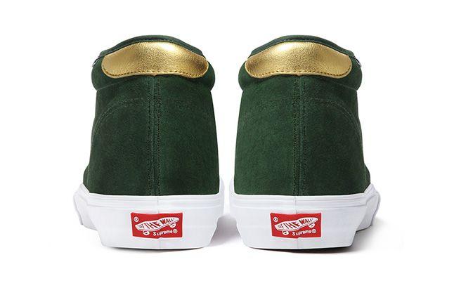 Vans Metallic Chukka Supreme Green Heel 1