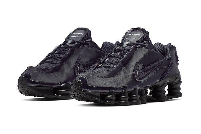 Comme Des Garcons Nike Shox Tl Black Cj0546 001 Release Date Pair