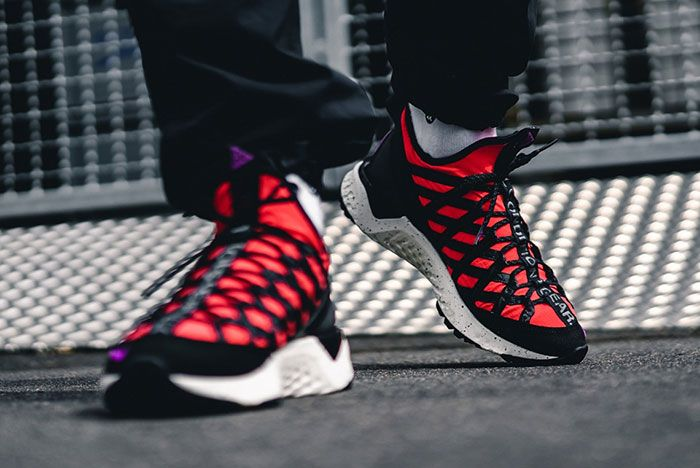 Nike Acg React Terra Gobe Bright Crimson Bv6344 600 On Foot Styled
