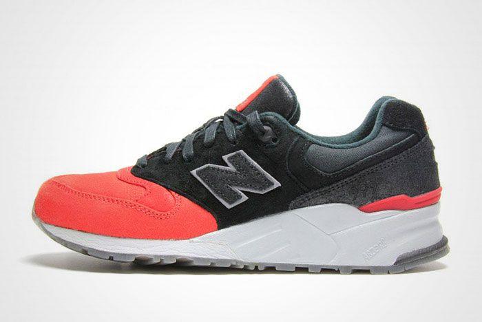 New Balance 999 Waxed Canvas Red Black Thumb