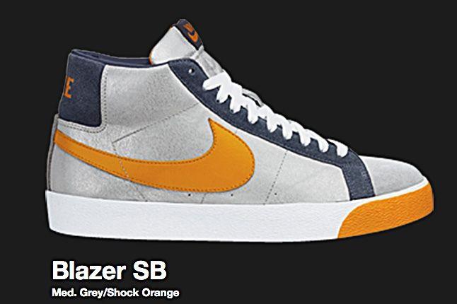 Nike Medium Grey Shock Orange Blazer Sb 2008 1