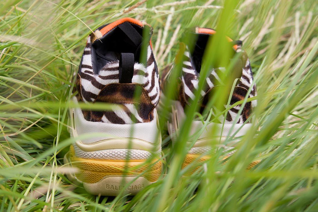 Balenciaga Triple S Ceeze Custom In Grass
