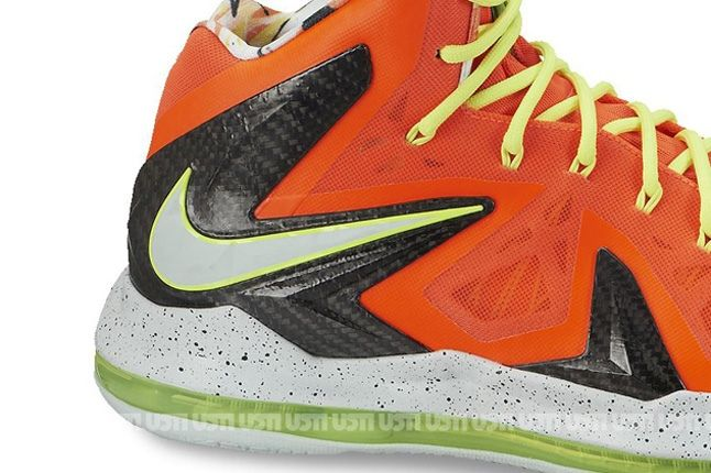 Nike Lebron X Elite Total Crimson Fiberglass Heel 1