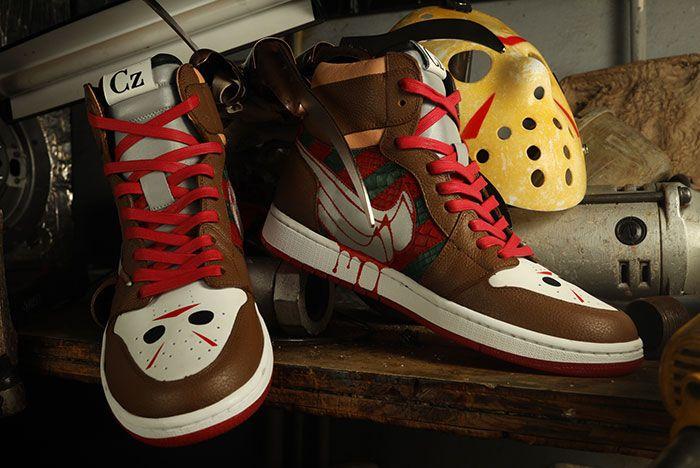 Ceeze Air Jordan 1 Freddy Vs Jason Custom Close