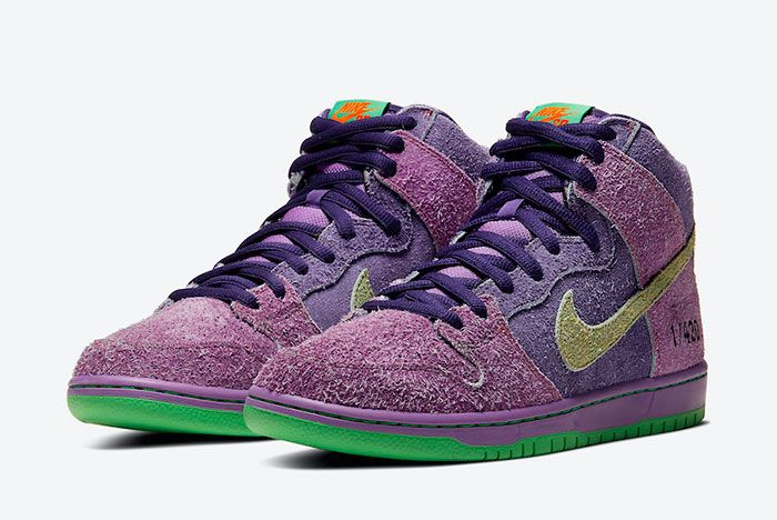 Nike SB Dunk High 4/20 'Reverse Skunk' Front Angle