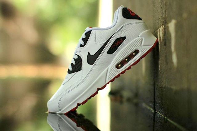 Nike Air Max 90 Leather Black White Red