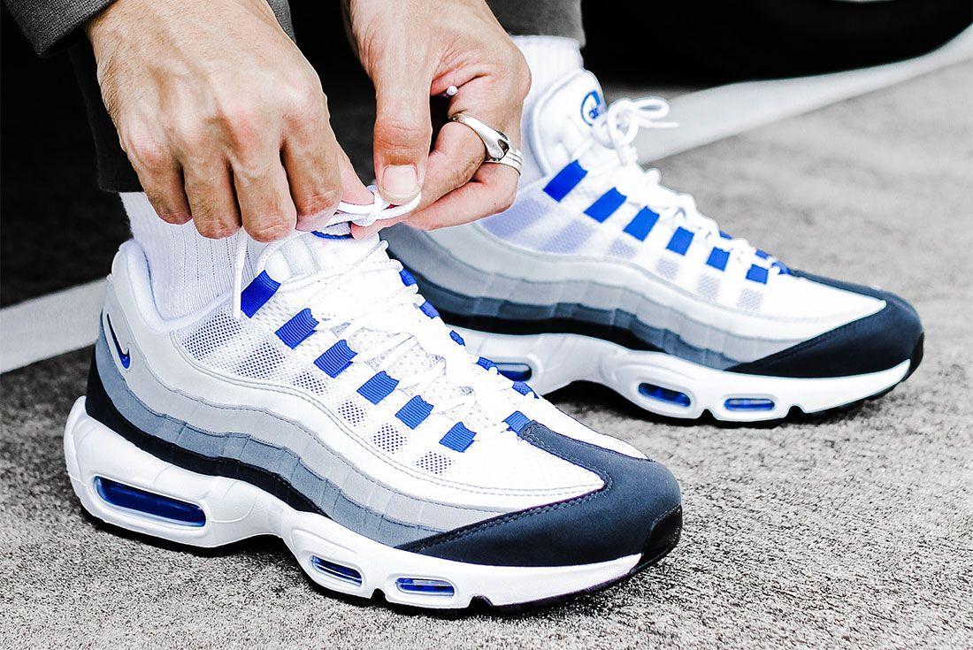 Nike Air Max 95 Grey Blue Right