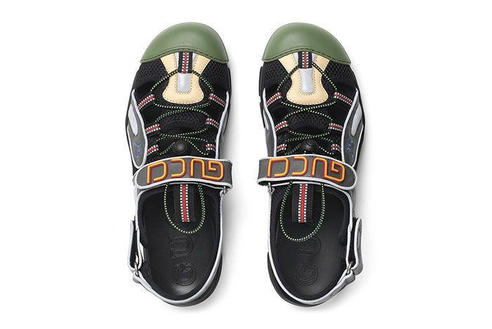 Gucci Sneaker Sandal Hybrid Black Top