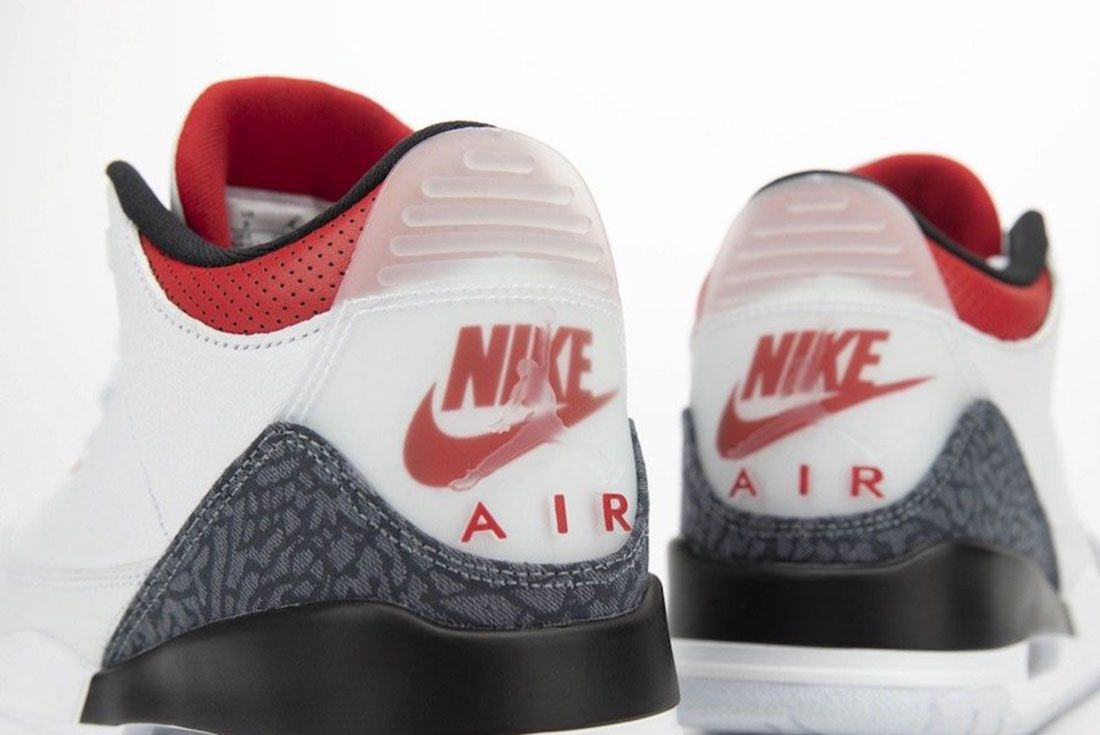 Air Jordan 3 Fire Red Denim