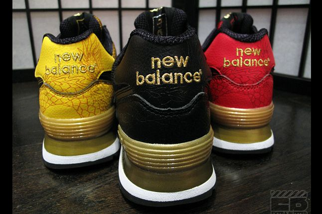 New Balance 574 Year Of The Dragon Pack Heels 1