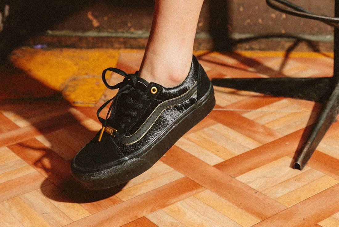 Vans Black Gold Pack 22Jd Sports Exclusive On Foot