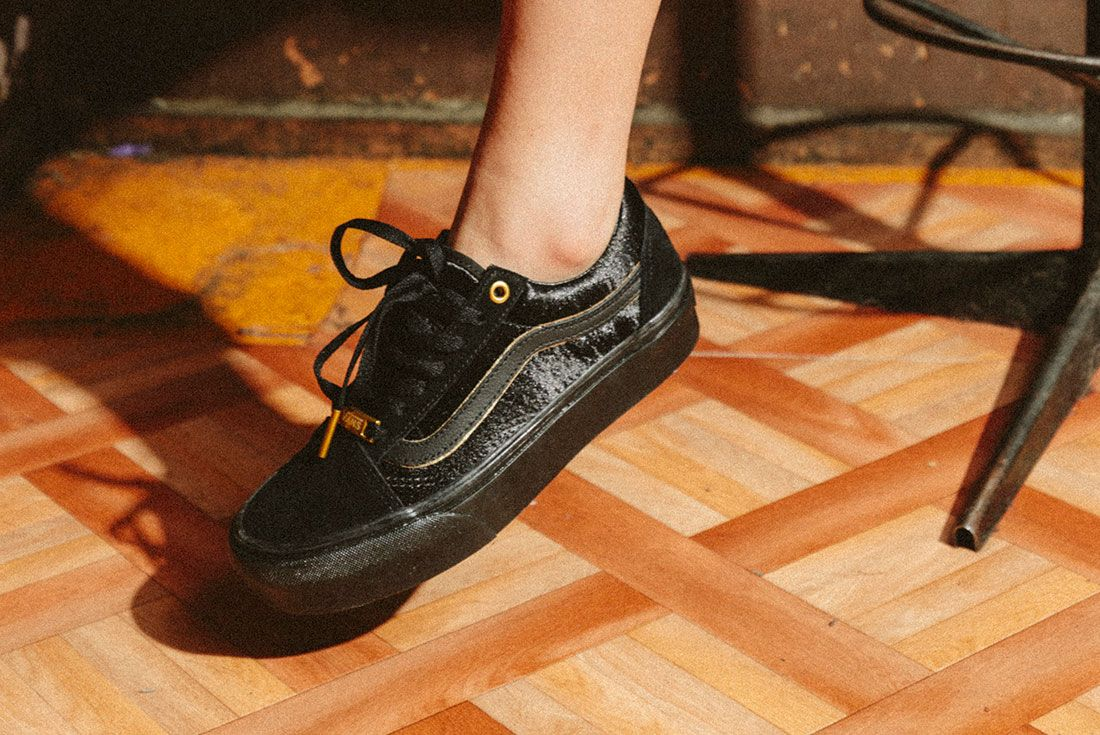Vans Black Gold Pack 22Jd Sports Exclusive On Foot
