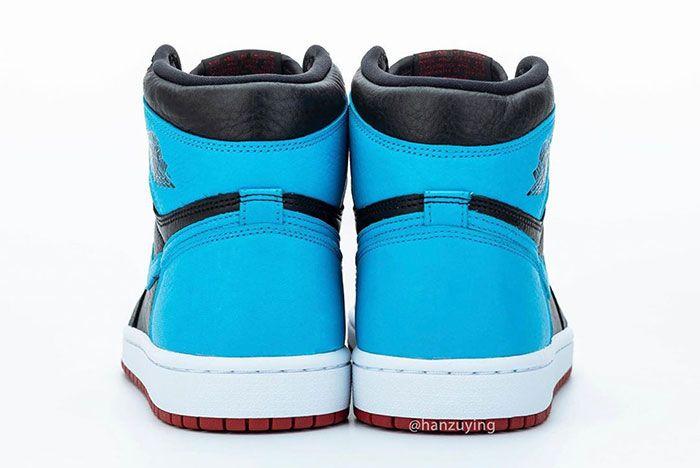 Air Jordan 1 High Unc To Chicago Heel