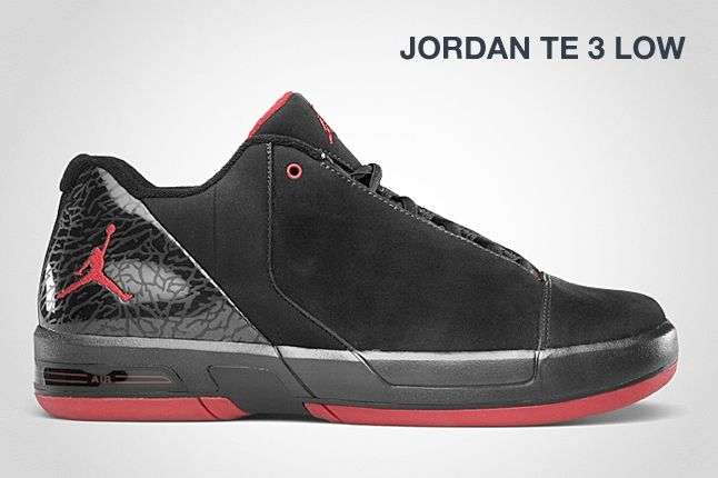 Jordan Te 3 Low Black Red 1