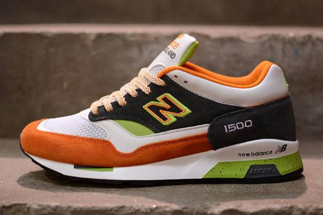 New Balance M1500 Whiteorangegreen 6