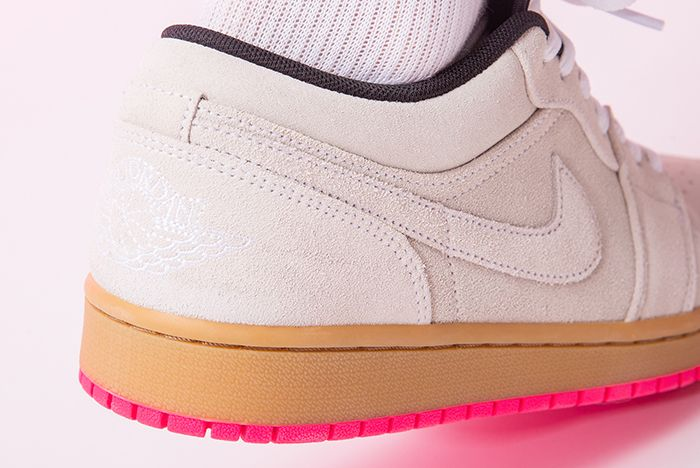 Air Jordan 1 Low Hype Pink 553558 119 Ankle Shot
