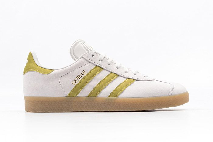 Adidas Gazelle White Gold Gum 1