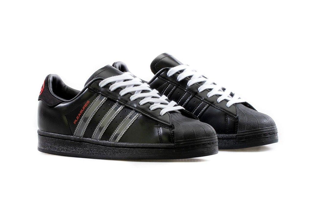 pleasures-adidas-superstar-black-white-red-