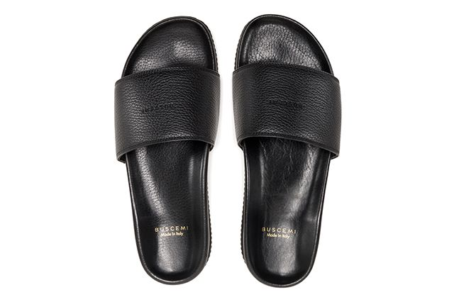 Buscemi Calfskin Leather Slides 2