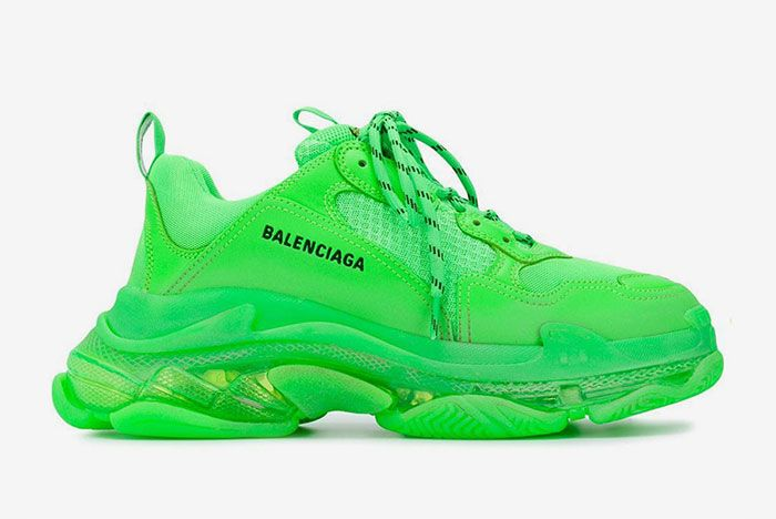 Balenciaga Triple S Green 1 Side Shot
