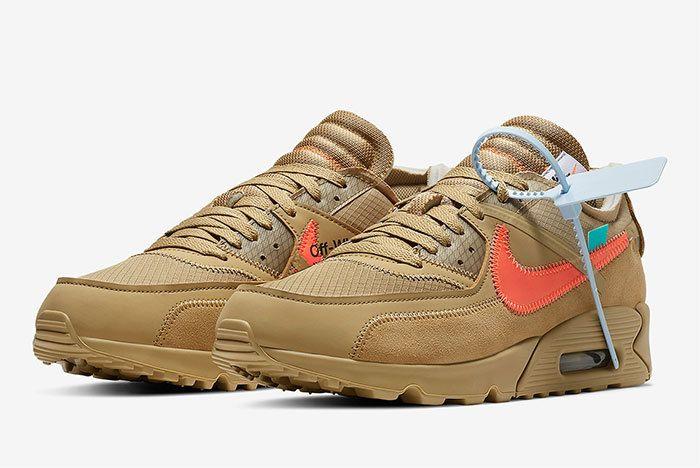 Off White Nike Air Max 90 Desert Ore Release Date 5