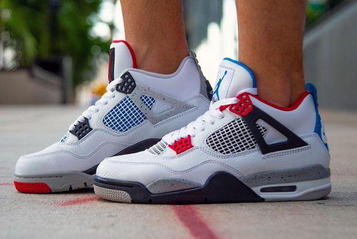 Air Jordan 4 What The On Foot Left
