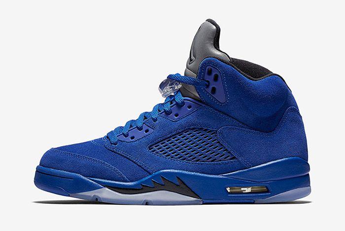 Air Jordan 5 Blue Suede 5