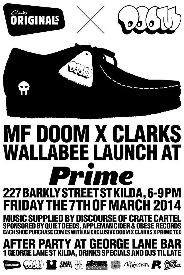 Mf Doom Clarks Prime Launch Flyer