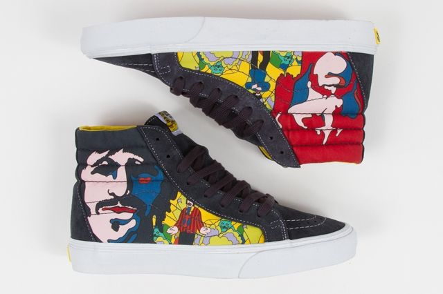 The Beatles Yellow Submarine By Vans Sk8 Hi Reissue Paneling