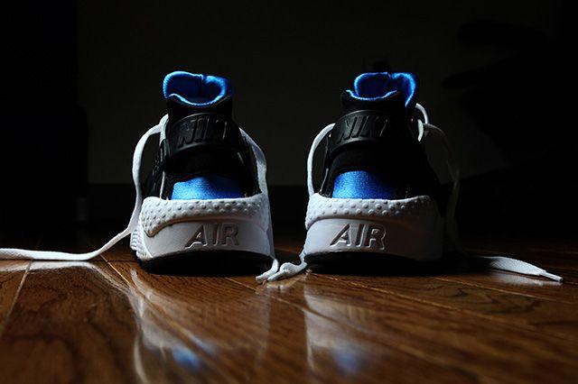 Nike Air Huarache Black And Blue Hero