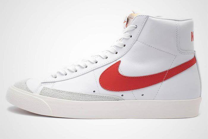 Nike Blazer Mid Vintage 77 Red White Side Shot 2