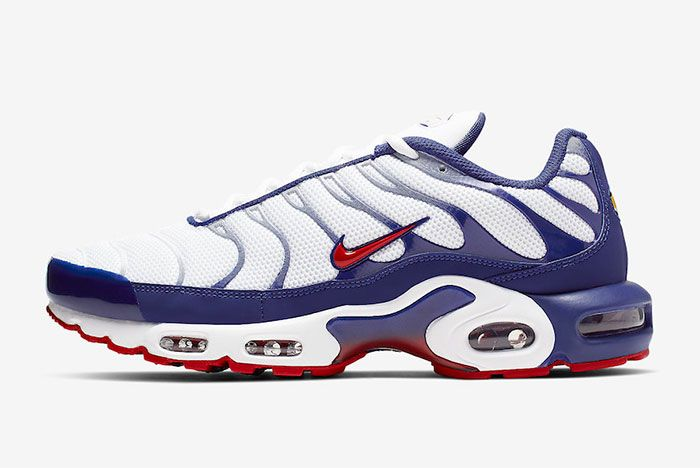 Nike Air Max Plus White Navy Red Left